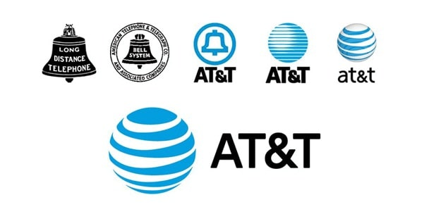 Evolución del logo de AT&T hacia un logo 3D