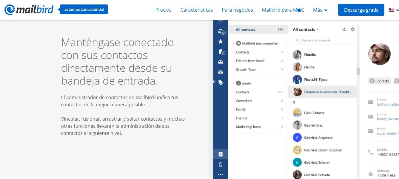 Ejemplo de herramienta para bandeja compartida: mailbird
