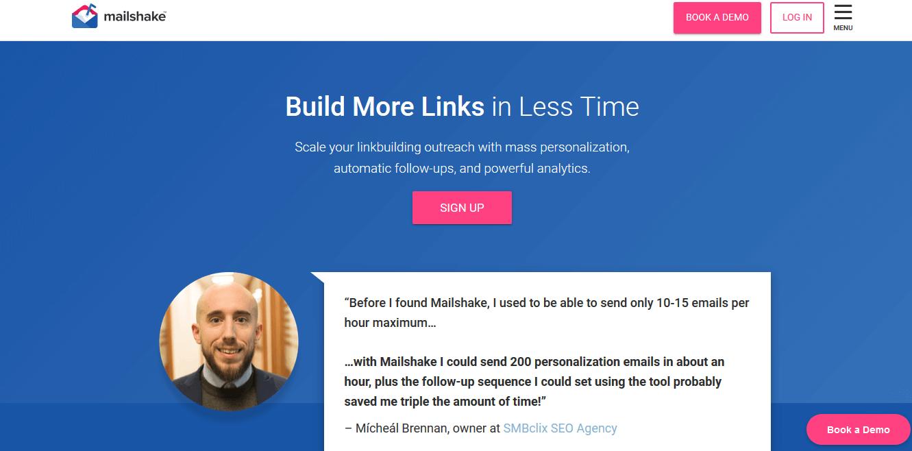 Herramientas para hacer link building: Mailshake
