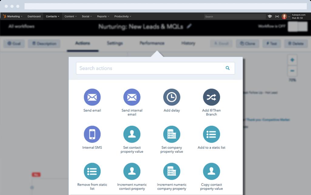 Software de marketing automation de HubSpot