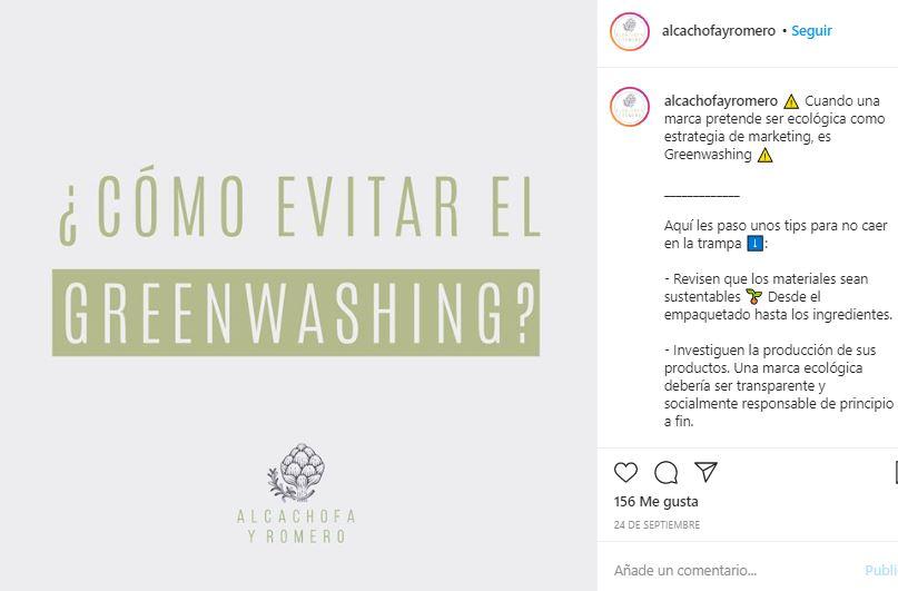 Ejemplo de marketing de contenidos de Alcachofa y Romero