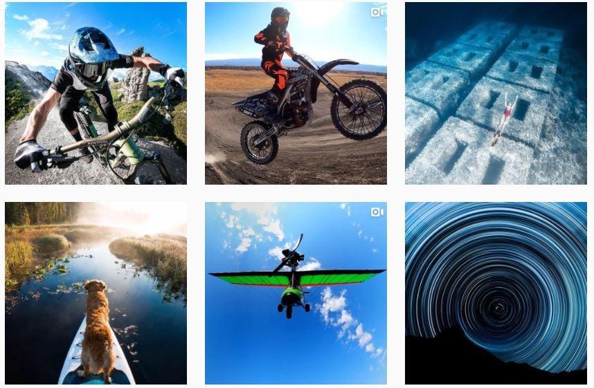 Ejemplo de marketing de contenidos de GoPro