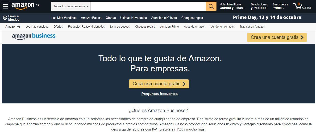 Los mejores marketplaces: Amazon Business