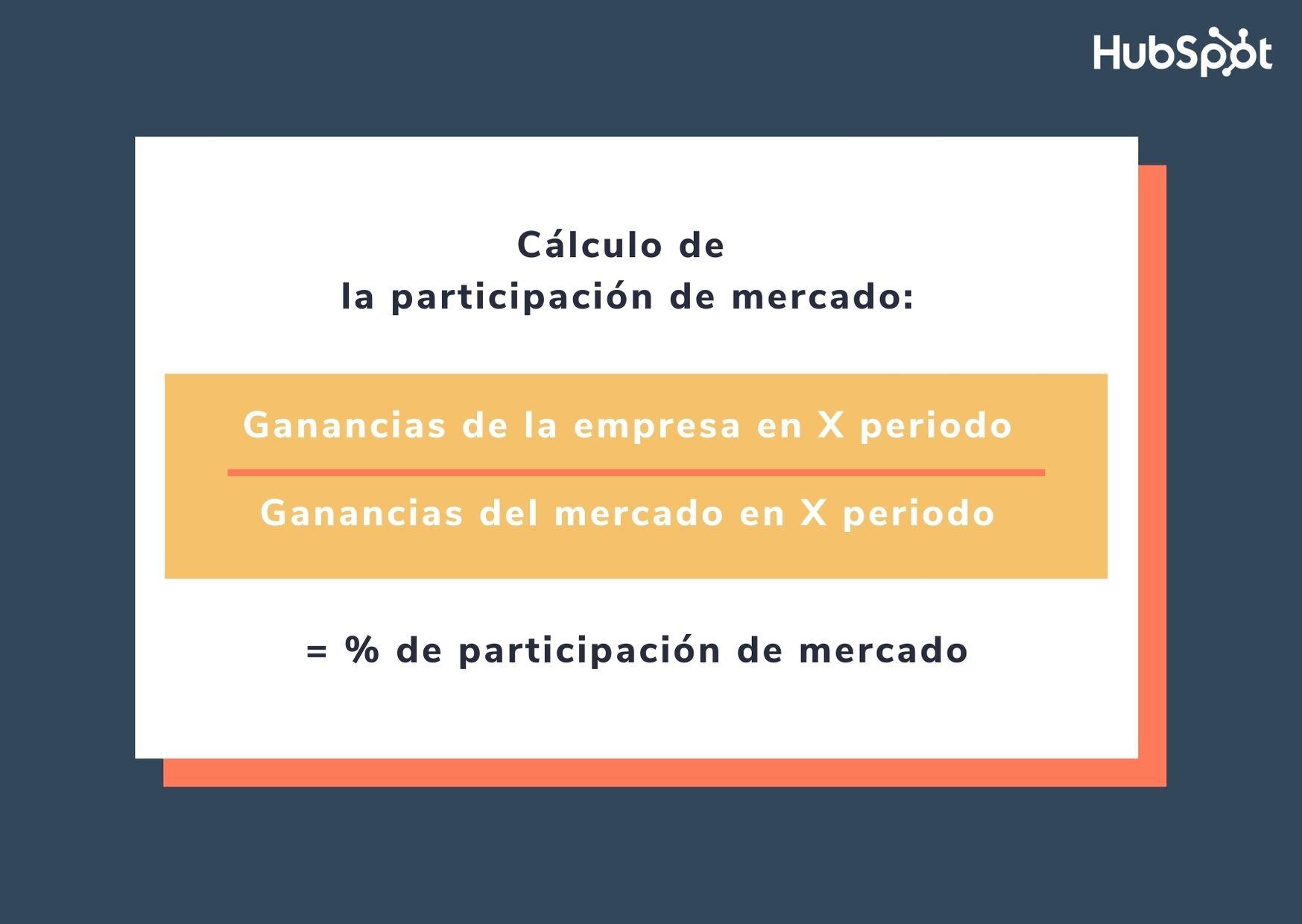Fórmula para calcular el market share o participación de mercado