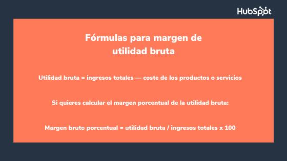 Fórmula del margen de utilidad bruta