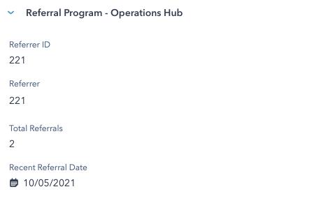 Programa de referidos con Operations Hub