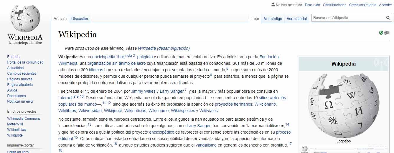 Ejemplo de prosumidores: Wikipedia