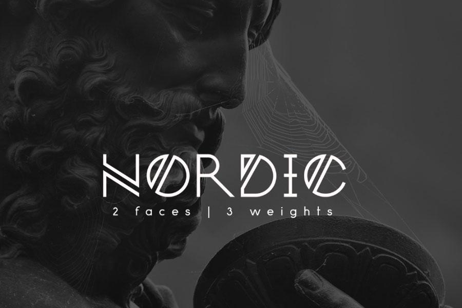 Tipografía moderna y gratuita para logos: Nordic