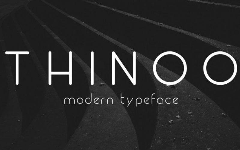 Tipografía gratuita estilo moderna para logos: Thinoo