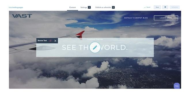 Pasos para hacer un sitio web en Hubspot: edita los módulos