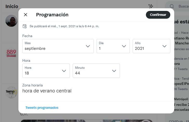 Cómo programar publicaciones en Twitter: fecha y hora