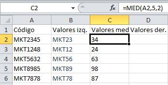 Fórmula de Excel: MED