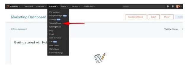 Realiza un sitio web en Hubspot: crea más páginas para tu sitio