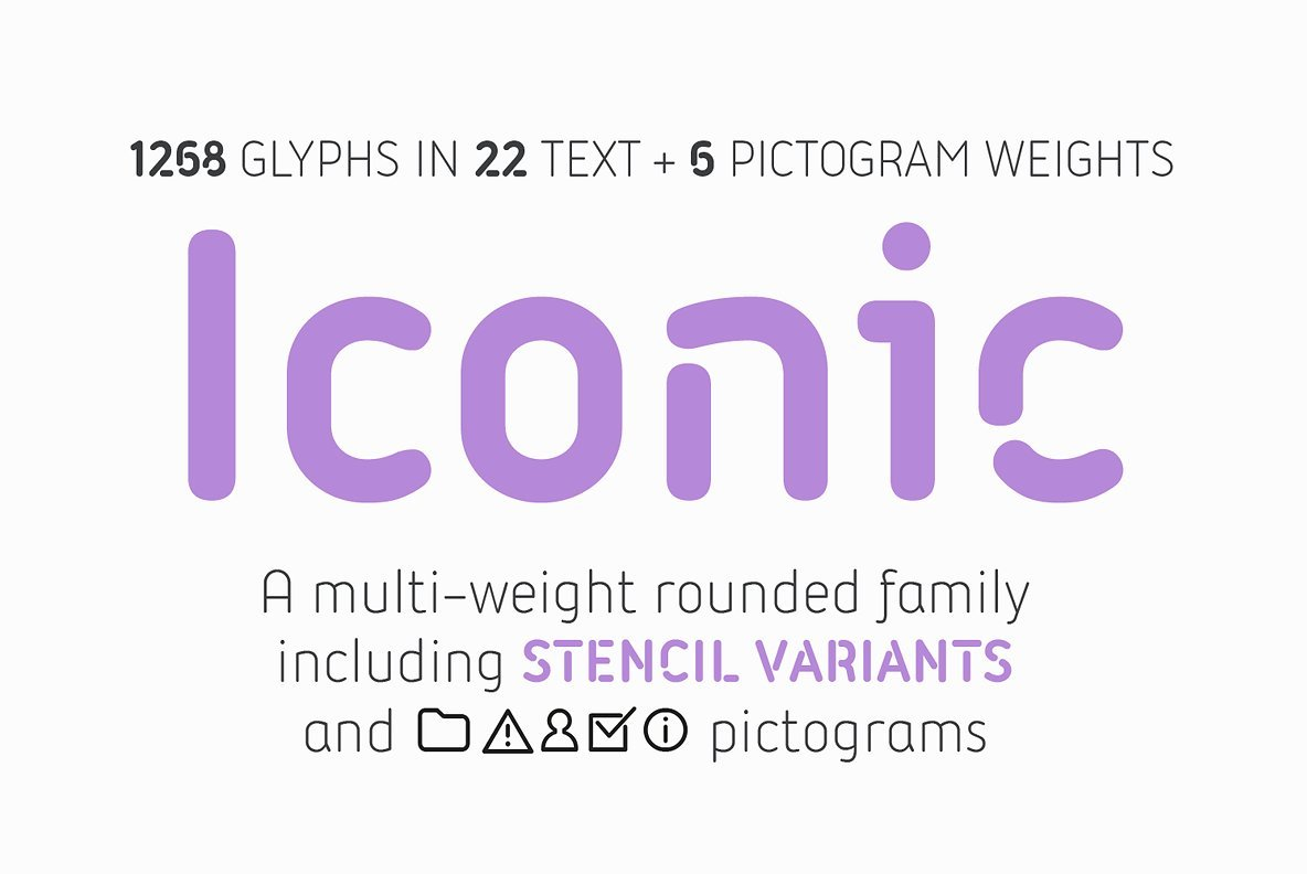 Tipografía moderna para logos: Iconic