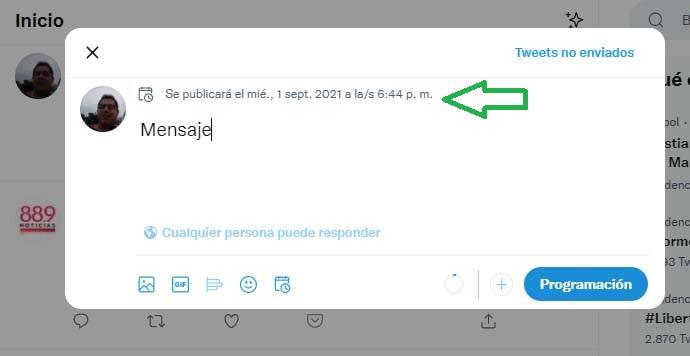 Cómo programar publicaciones en Twitter: verificación
