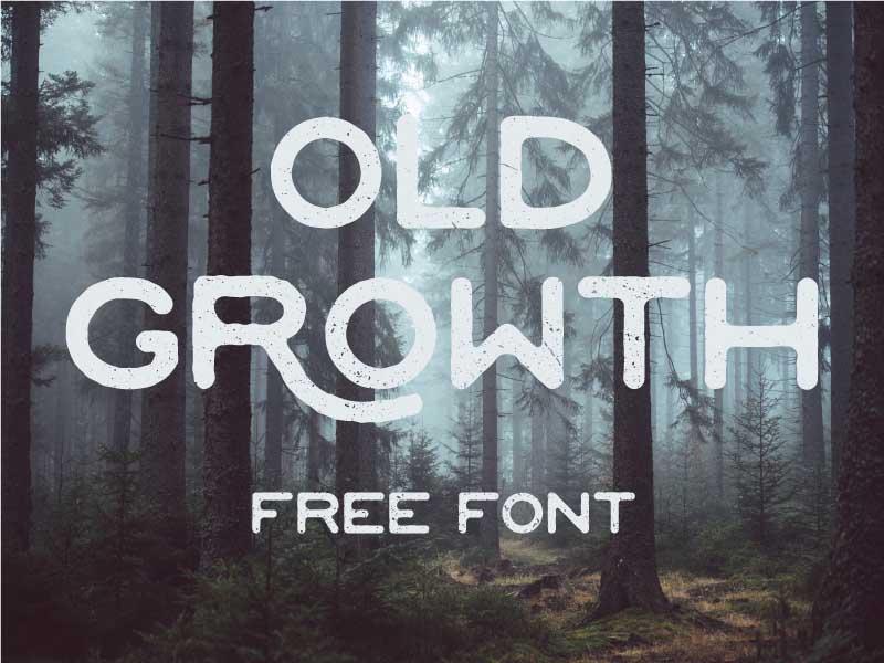 Tipografía moderna gratis para logos: Old Growth