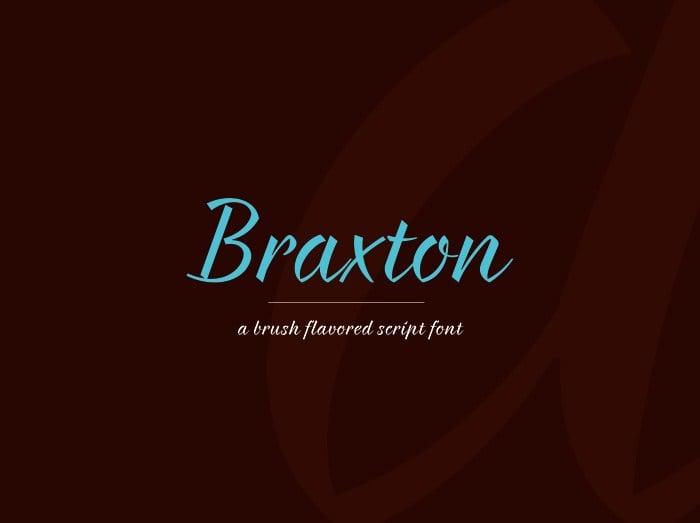 Tipografía moderna gratis para logos: Braxton
