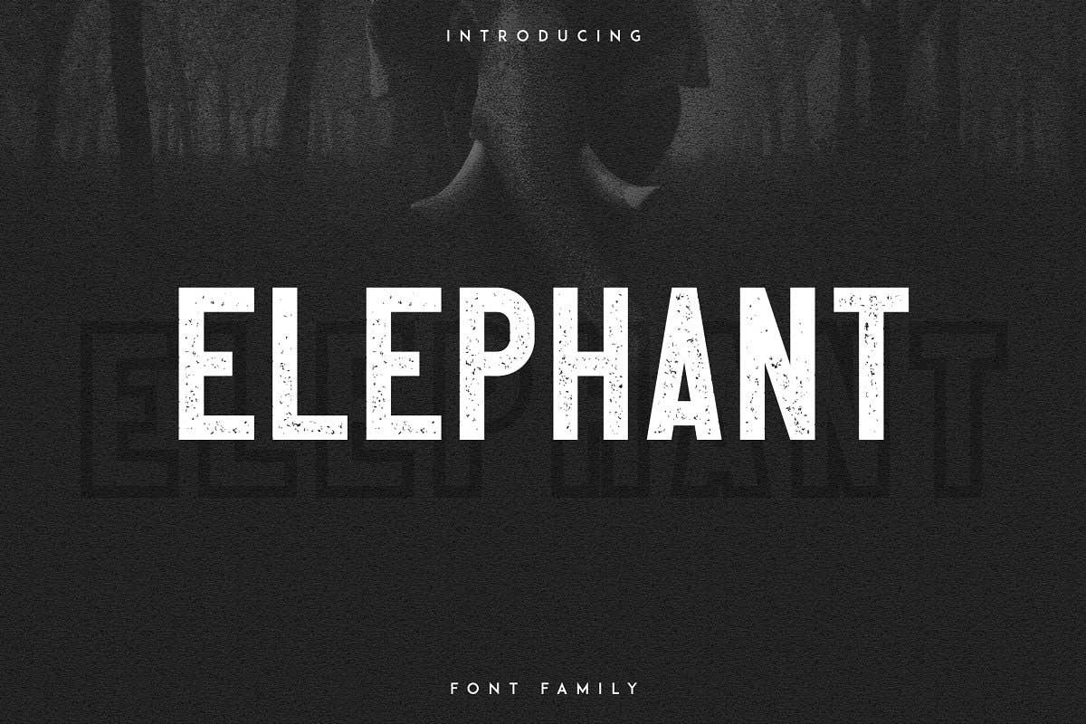 Tipografía moderna y gratuita para logos: Elephant