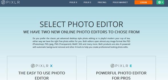 Programas de marketing de contenidos: Pixlr