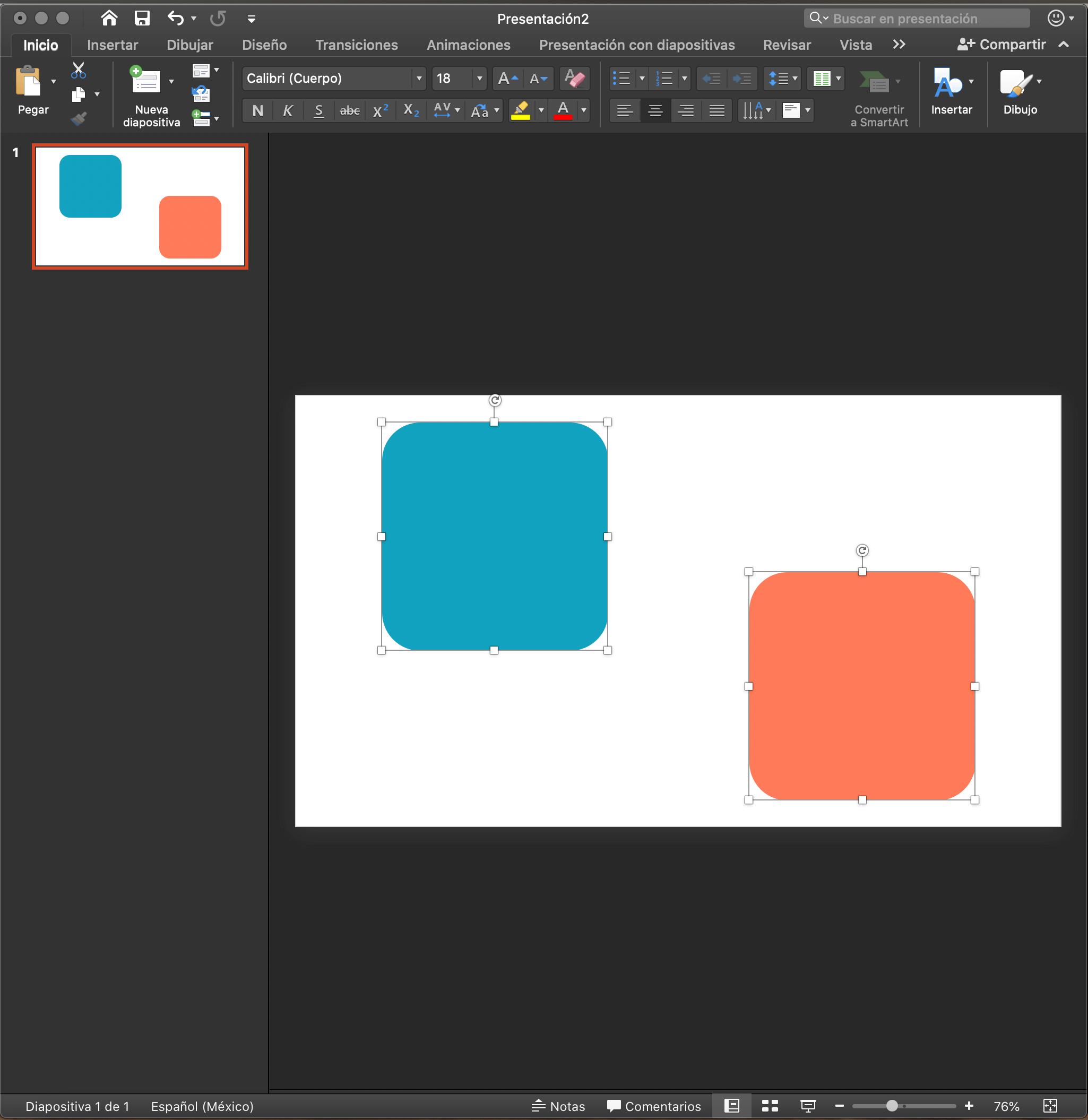 Alinear objetos en PowerPoint