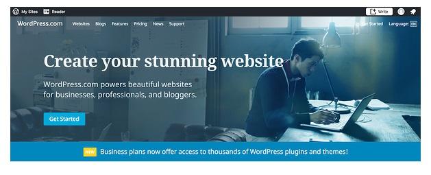 Cómo crear sitio web en WordPress: accede a WordPress