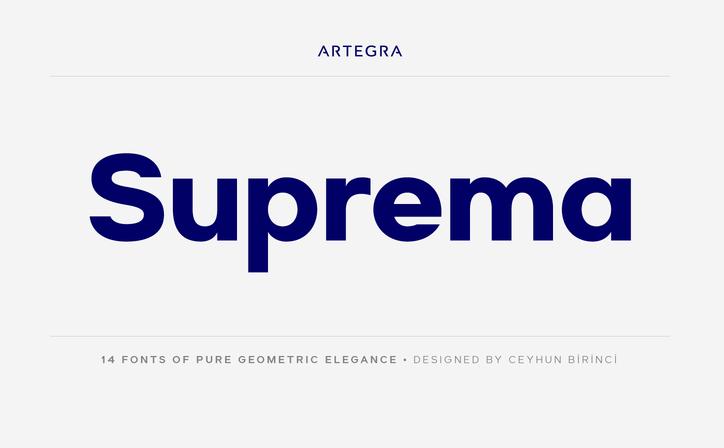 Tipografía moderna para logos;: Suprema