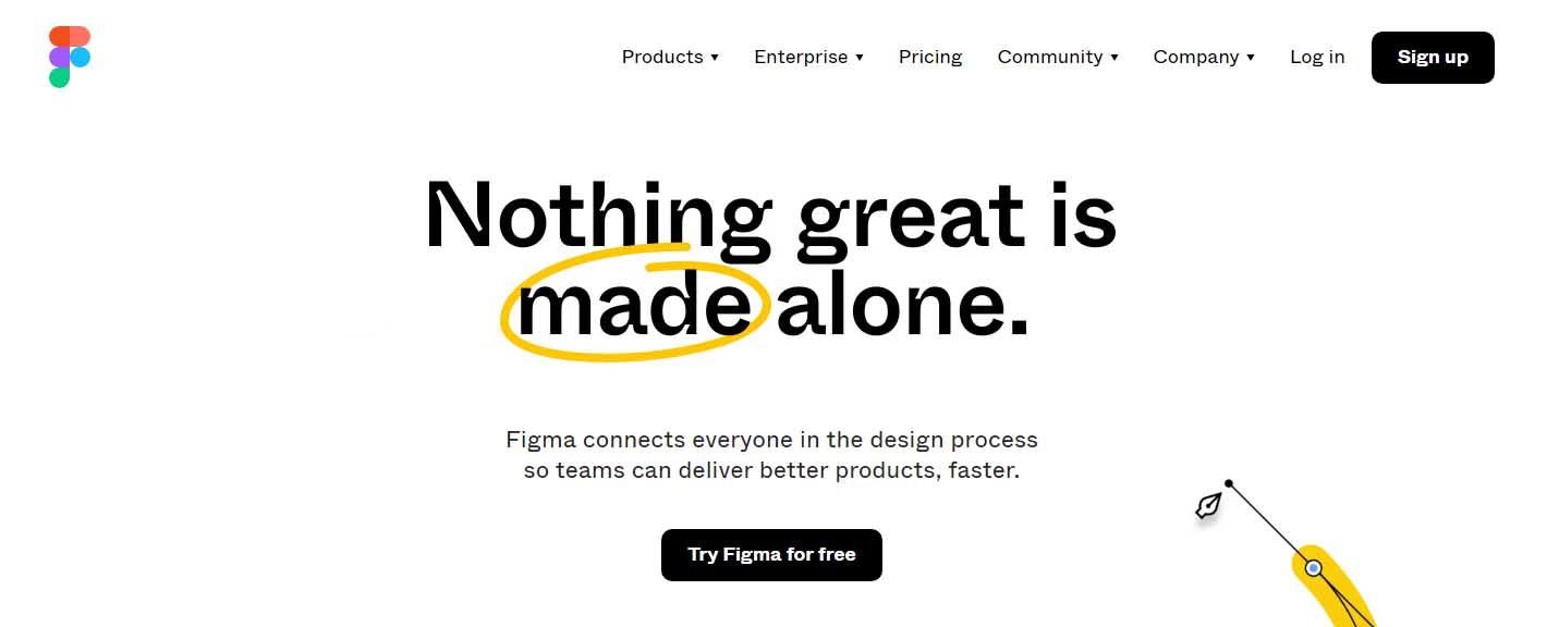 Ejemplo de mejores herramientas para diseño web en 2022: Figma