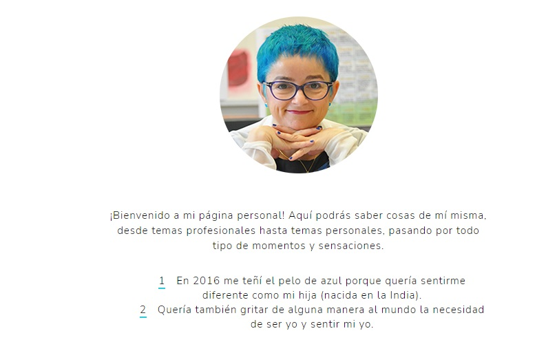 Ejemplo de biografía profesional creativa de Macarena Estevez