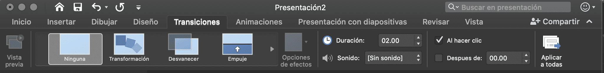 Cómo usar PowerPoint: transiciones