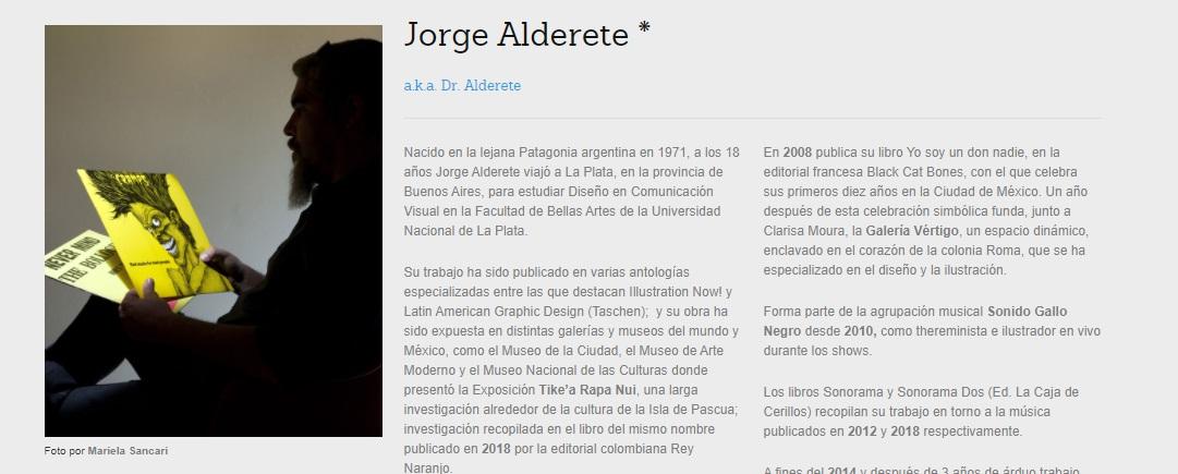 Ejemplo de biografía profesional de Jorge Alderete