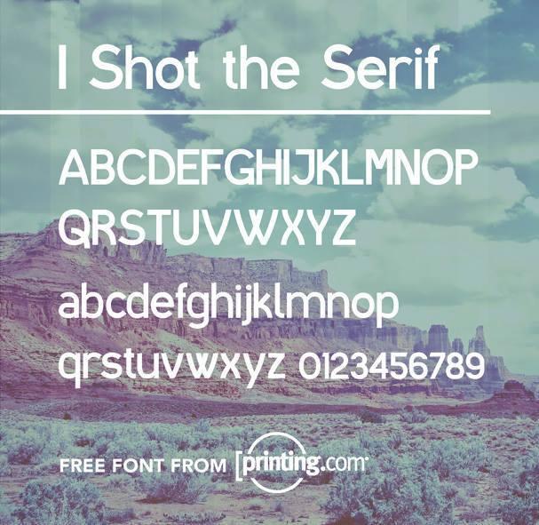 Tipografía moderna y gratis para logos: I Shot the Serif