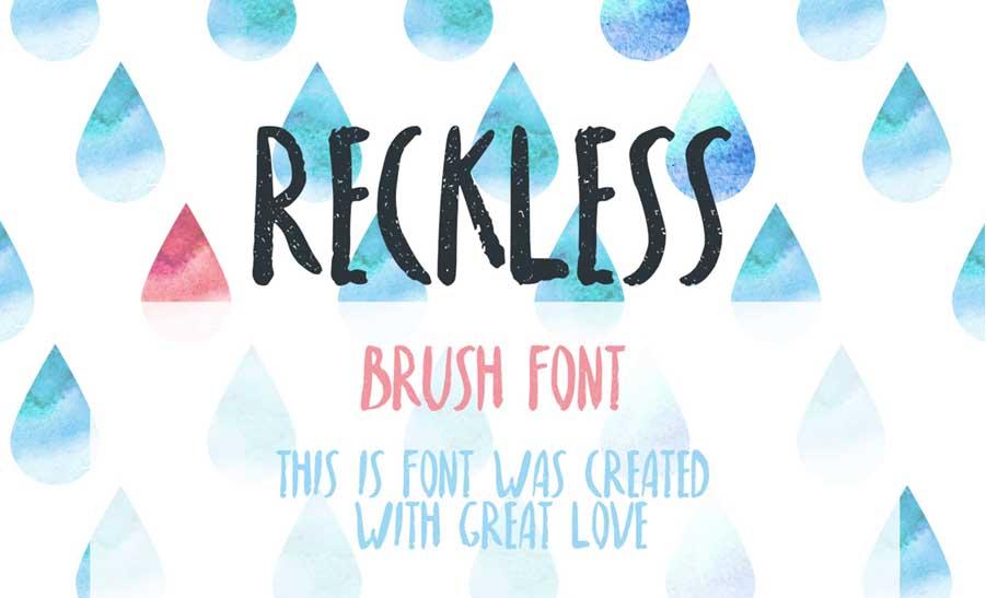 Tipografía moderna para logos: Reckless
