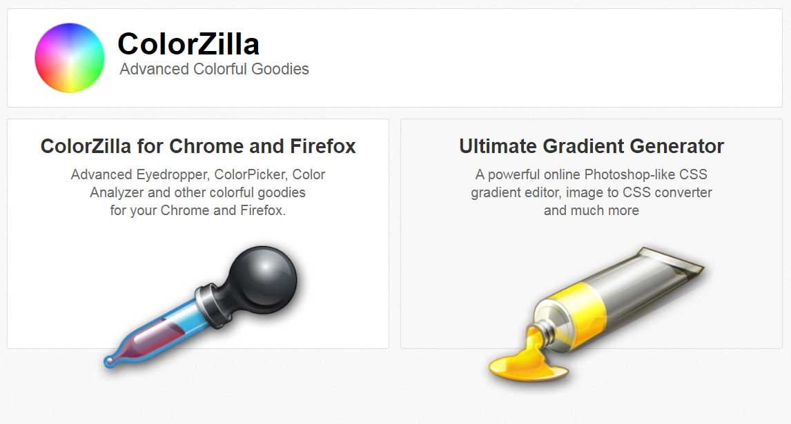 Ejemplo de mejores herramientas para diseño web en 2022: ColorZilla