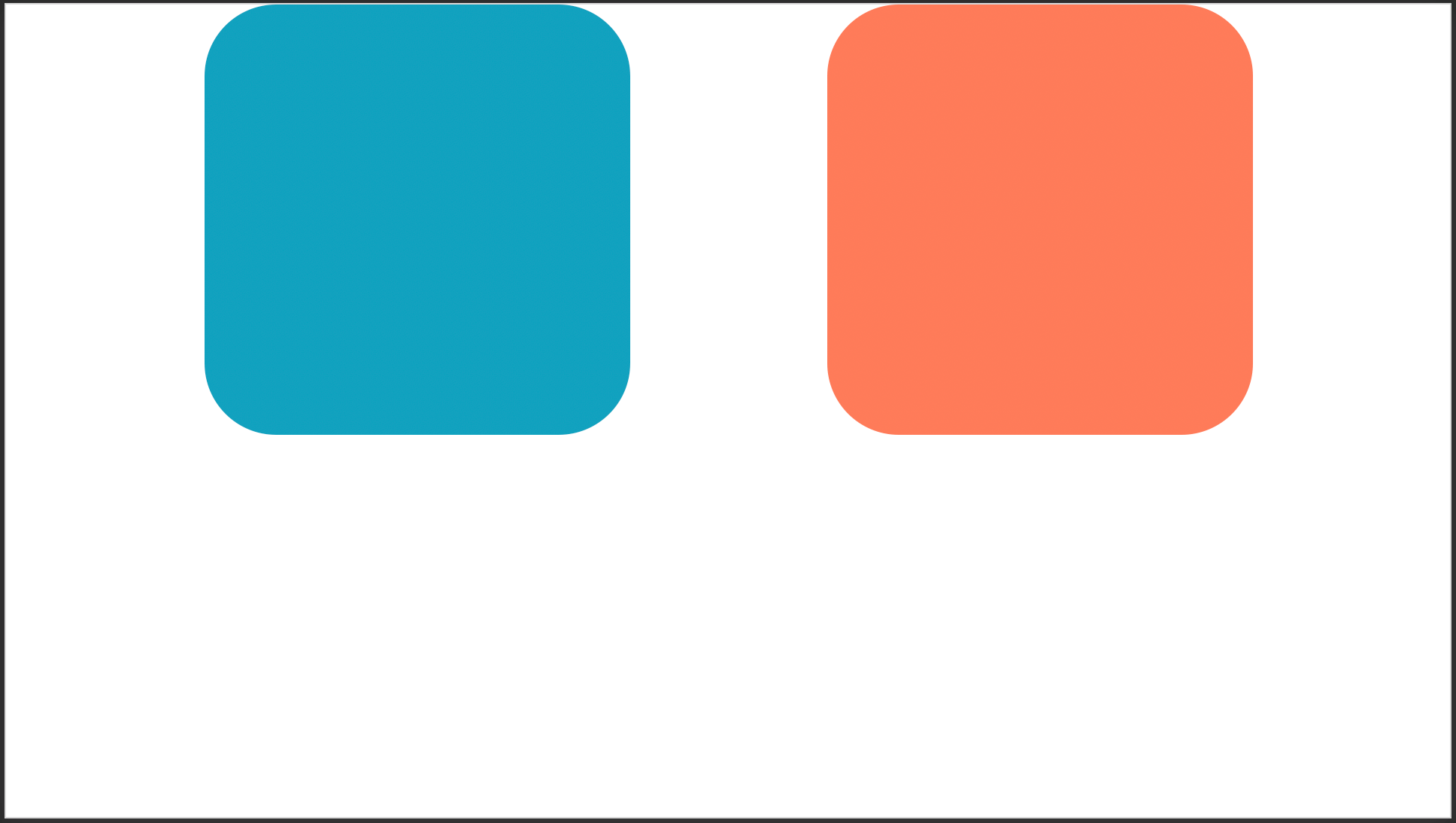 Ejemplo de objetos alineados en PowerPoint