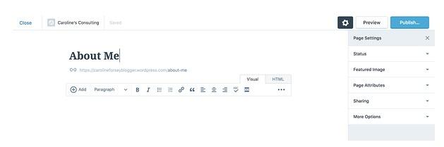 Cómo crear sitio web en WordPress: añade páginas nuevas a tu sitio