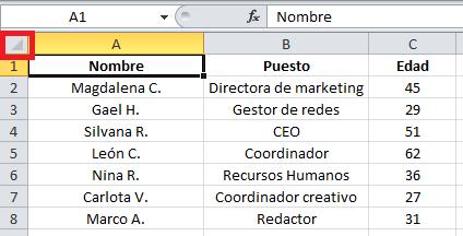 Atajo de Excel: cómo seleccionar filas