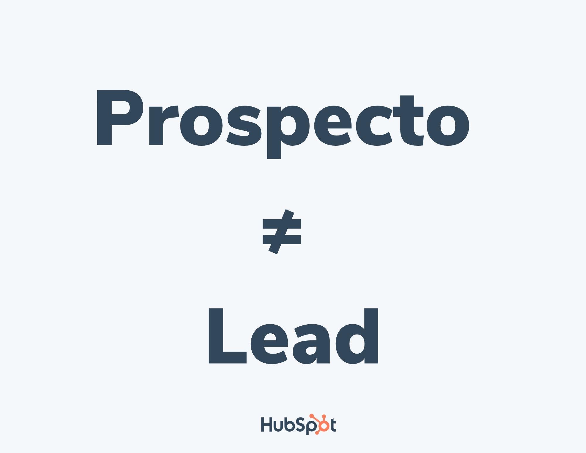 Diferencia entre prospecto y lead