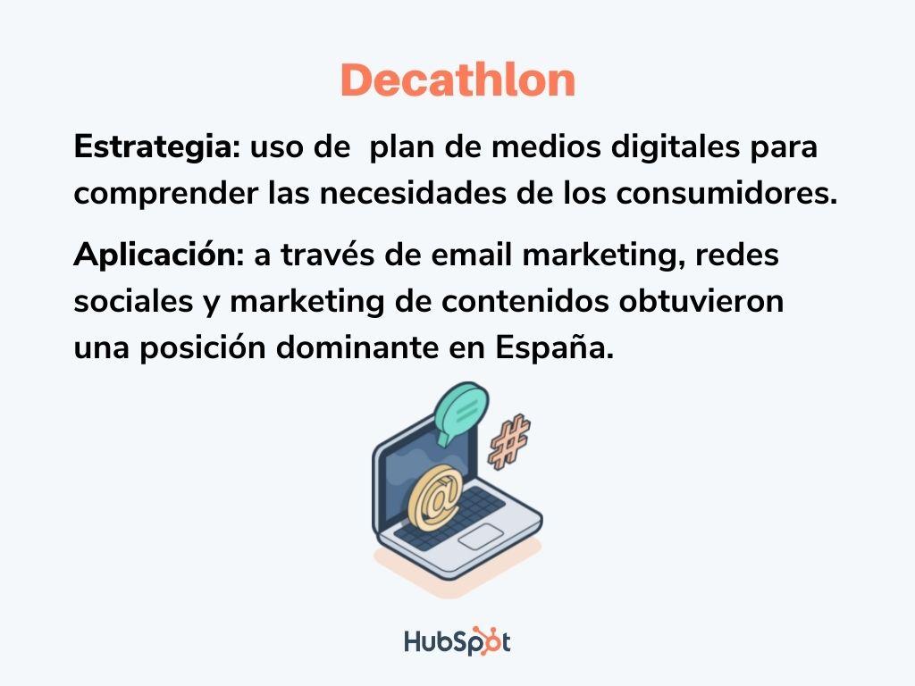 Ejemplo de plan de medios digitales de Decathlon