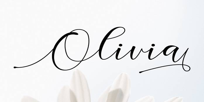 Tipografía elegante para logos: Olivia