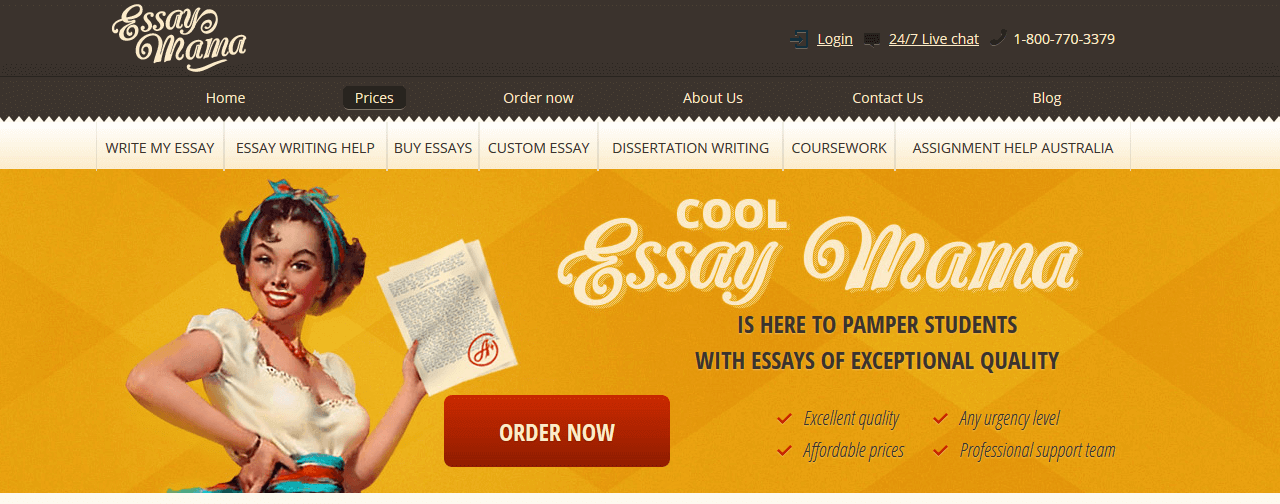 Programas de marketing de contenidos: Essay Mama