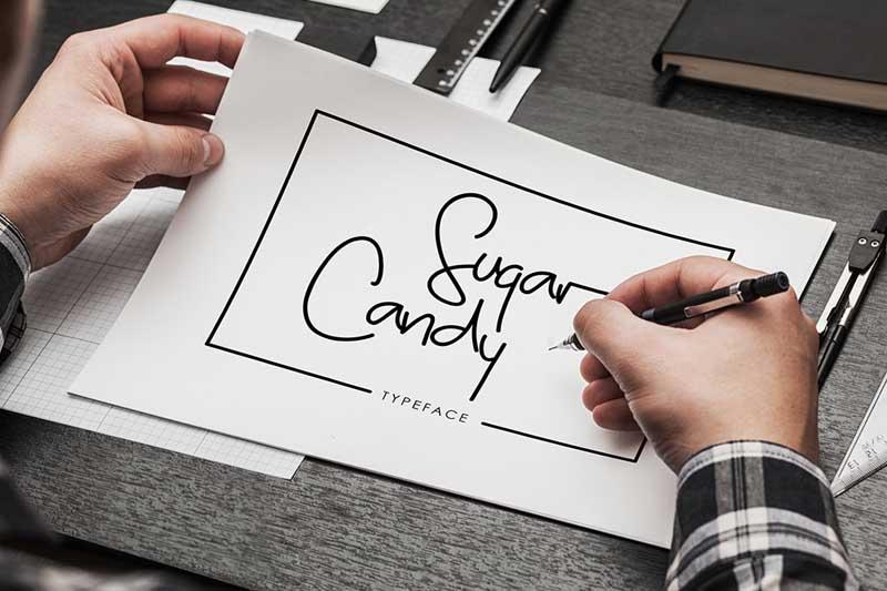Tipografía elegante para logos:  Sugar Candy