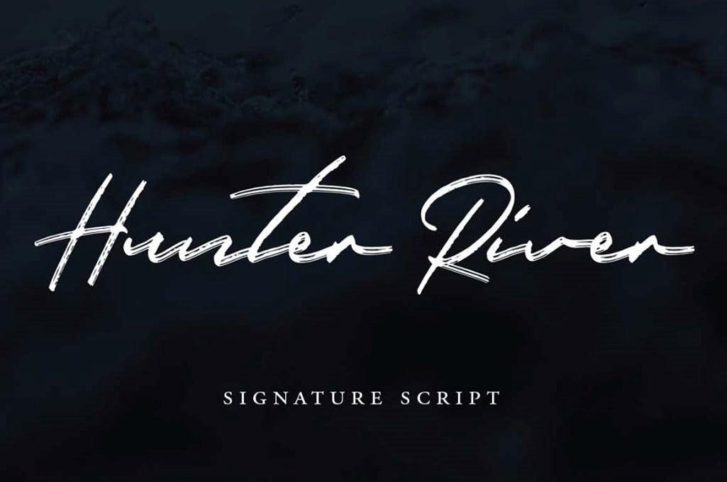 Tipografía elegante y gratuita para logos: Hunter River