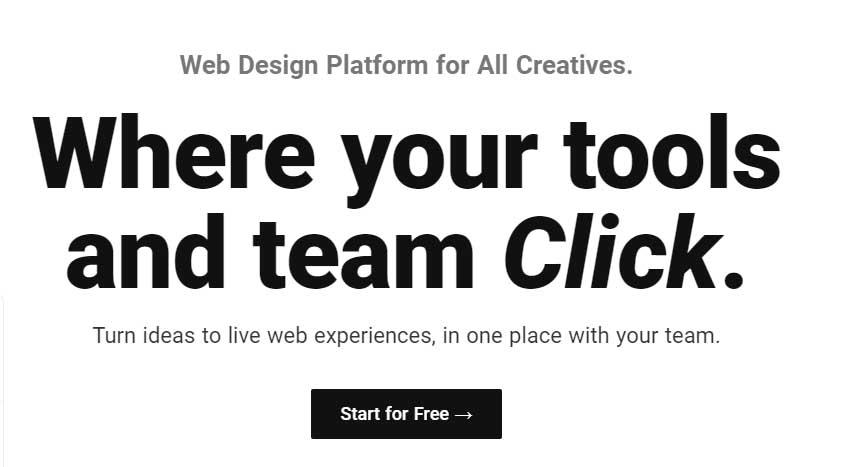 Ejemplo de mejores herramientas para diseño web en 2022: Studio Design