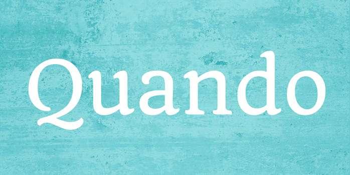 Tipografías elegantes gratis para logos: Quando