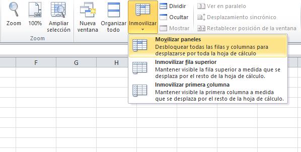 Atajo de Excel: cómo fijar una celda