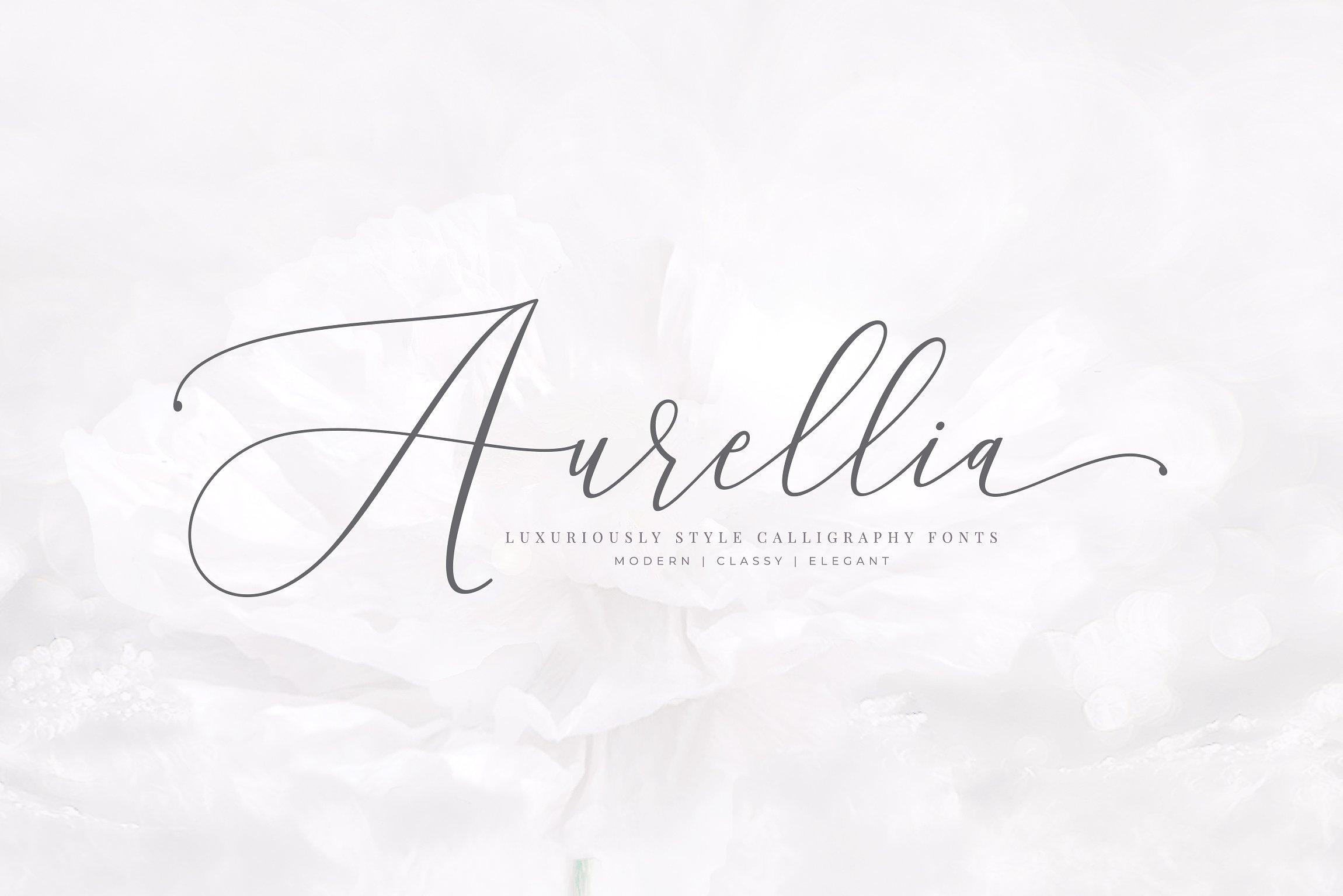 Tipografía elegante para logos: Aurellia