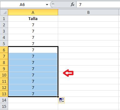 Atajo de Excel: cómo hacer llenado automático