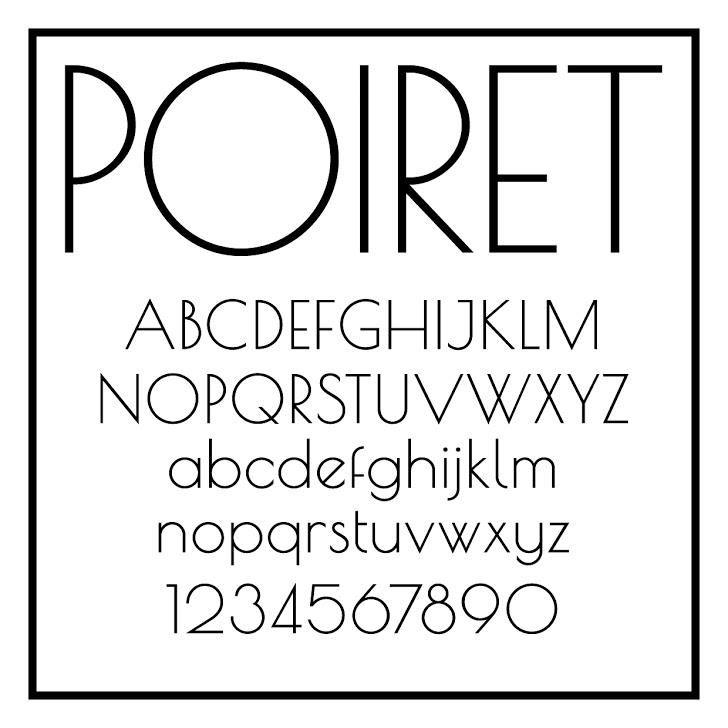 Tipografía elegante gratis para logos: Poiret One