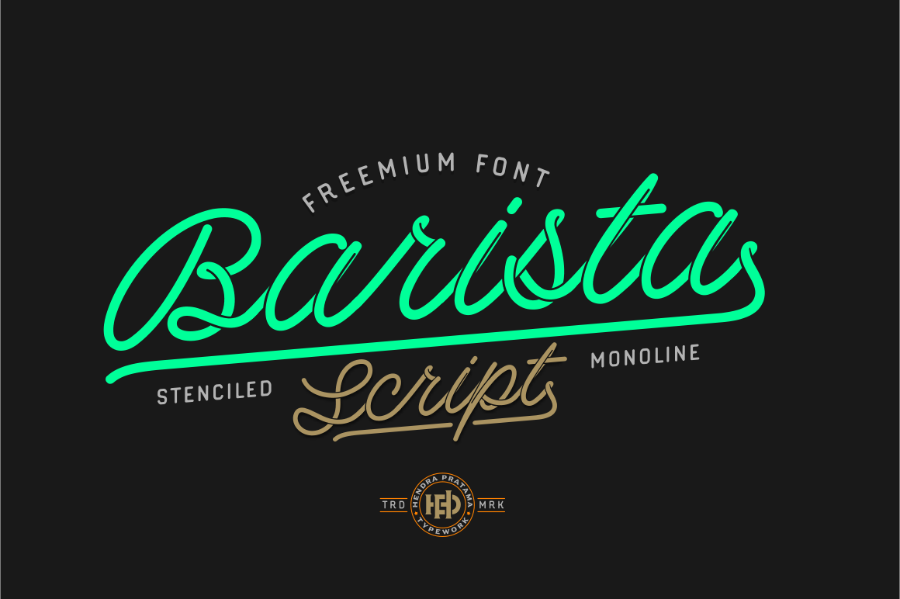 Tipografía vintage y gratuita para logos: Barista script