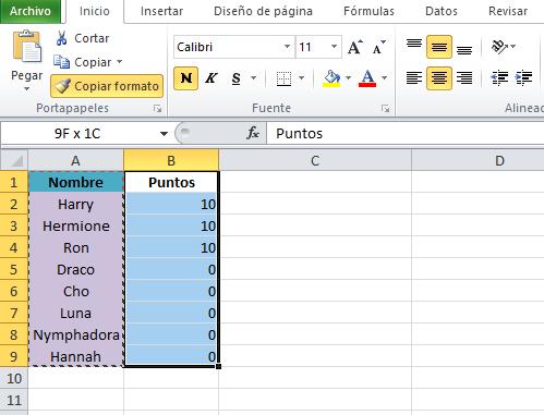 Fórmulas de Excel: cómo copiar formato